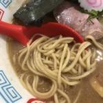ハレノチ晴 - 味玉濃熟鶏しぼりそば       麺は自家製の中太平打ち麺