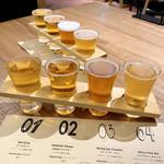 アイビアー・ルサンパーム - ★本日のクラフトビール4種飲み比べセット(通常1,100円+税)この日は税込500円‼︎