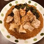 火星カレー - 鶏カレー890円 草トッピング150円
