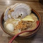 蔵出し味噌 一六 - 料理写真:北海道味噌炙りチャーシュー麺(味玉トッピング)