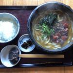 古蝶庵 - 料理写真:すじカレーうどん(ご飯セット) 限定10 1380円