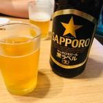 魚の四文屋 - 瓶ビールで乾杯!