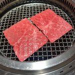 102824225 - 変わり焼肉「北海道産黒毛和牛もも肉焼きしゃぶ」
