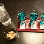 いろり - 富山地酒飲みくらべ3種