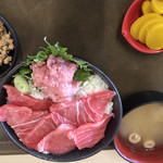 大遠会館 まぐろレストラン - 本まぐろ中トロ丼  大盛   1680円