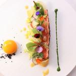ラ・ブリック - 料理写真:瀬棚町 桜マス 球体のジンジャーソース