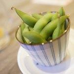 大衆天ぷらtoかすそば風土.はなれ - 枝豆わさび漬け