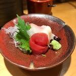 金沢回転寿司 輝らり - お酒のセットのお刺身