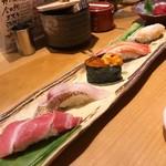 金沢回転寿司 輝らり - 5種盛り