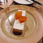 アルベロ - ゴルゴンゾーラのレアチーズケーキ 金柑のコンポート添え 600円