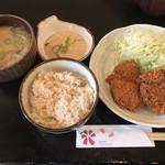 薩摩 茶美豚 とんかつ 花 - 玄米&とろろ定食