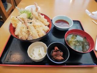市場食堂 - モサエビ天丼(\980)