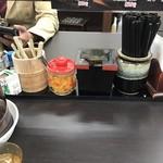 資さんうどん - 料理写真:卓上!
