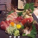 和彩ダイニング 膳 - お刺身の盛り合わせ。