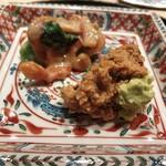 102901578 - 赤貝酢味噌和え&西瓜の奈良漬け❤️ いきなり日本酒進む〜♪