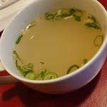 ガネーシュ - サービスしてくれたスープ