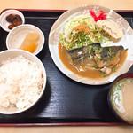 ひまわり亭 - 週替定食(鯖の味噌煮とだし巻き)