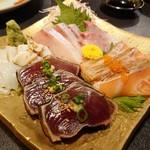 Jukusendiningsenka - 魚の刺し盛り(1,680円)