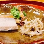 102923989 - 蛍烏賊、鮎の稚魚、笹カレイ