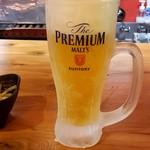 大衆焼き鳥酒場 やきとりさんきゅう - 生ビール:399円