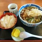そば処 小玉家 - 天ぷらそばと普通ご飯