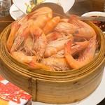 竹園海鮮飯店 - 蒸しエビ