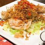 竹園海鮮飯店 - シャコのフライドガーリックのせ