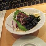 酒と肴 SUIGEI - 鰹と揚げナスのたたき