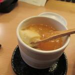 酒と肴 SUIGEI - 茶碗蒸しすくい上げ