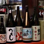 ワイン&焼酎 KURIKI 九州料理の店 - 焼酎のラインアップ