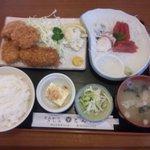 とんかつとん喜 - 刺身付きB定食 1,200円