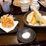 石臼挽手打ち蕎麦 えび家 - かき揚げ  小盛天ぷら 各500円  ランチ