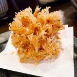 石臼挽手打ち蕎麦 えび家 - さくら海老のかき揚げ(小)  サクサク