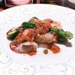 コントワール ミサゴ - 赤いか、ホタテソティ、甘鯛のフリット