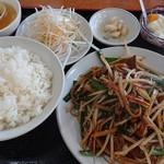 王府 - 料理写真:レバニラ定食
