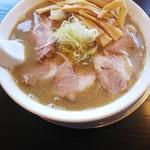 煮干中華 あさり - 肉煮干しそば(大)+メンマ