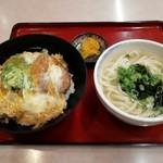金比羅うどん - カツ丼セットです。(2019年3月)