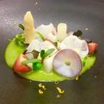 タストゥー - 水タコと春野菜、柚子ソース