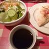 伊太利家 - 料理写真:'19/03/03 フォカッチャ&サラダ