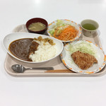 カフェテリア ルネ - カレー 若鳥醤油揚げ サラダ 味噌汁 合計 ¥569