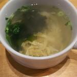 七二八苑 - セットのスープ