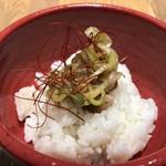 つけ麺や 武双 - ミニチャーシュー丼(本当にミニですよ)。