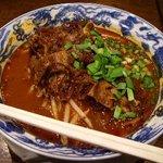 蒼龍唐玉堂 - 牛すじ坦々麺(980円)