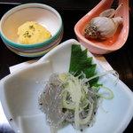 佐久寿司 - 突き出し3品