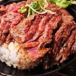 レッドロック - 『ステーキ丼(大盛り)』(税込み1150円)