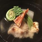 よし川 新別館 - バチコと鮎魚女のお椀