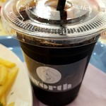 ワースカフェ - エッグチーズバーガーセット910円