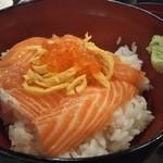 酒と肴 海鮮丼 海山 - ご飯の量は調整可能