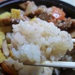 おむすび 重吉 - 11/2011鶏釜飯のメシ