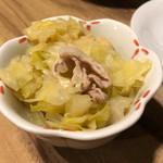 京都 五行 - 先付-白菜と豚肉のたいたん